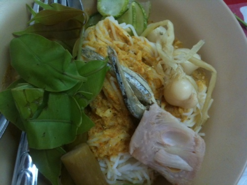 My choice (at first): crab nam ya