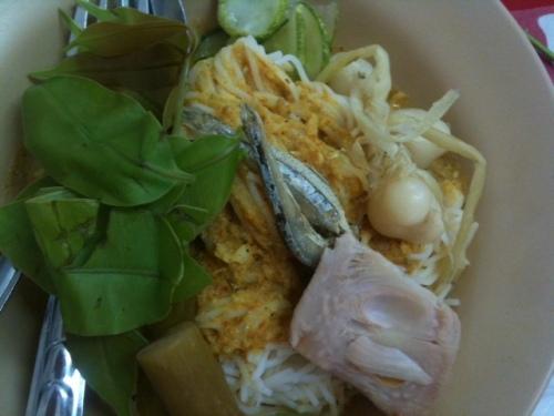 My choice (at first): crab nam ya