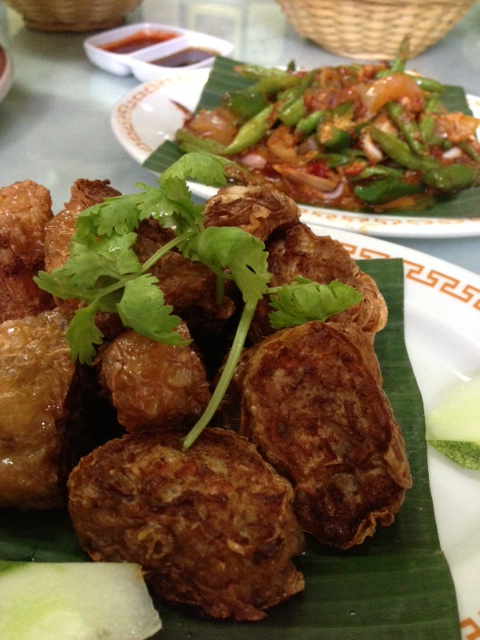 Meatballs and long beans at House of Peranakan Cuisine
