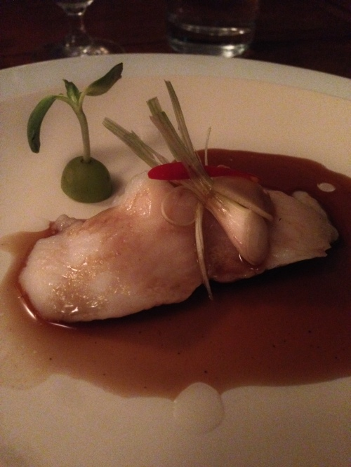 Steamed fish with soy sauce, one of the many courses at Nang Gin Kui