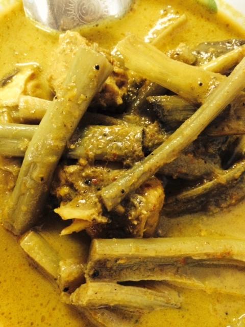 Banana stem curry at Pa Oun