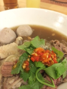 Wagyu beef noodles in broth at Nuer Koo