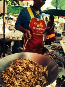 Bangkok's street food future? A vendor at a wet market on the Thonburi side of the river
