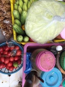 The work station for a Sukhumvit som tum vendor