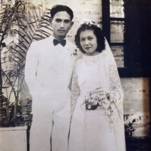 Grandma Jeanette and Grandpa Tongdee on their wedding day