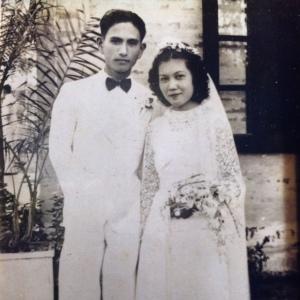 Grandma Jeanette and Grandpa Tongdee on their wedding day